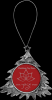 2-Sided Silver Plastic Christmas Tree Ornament Ornaments