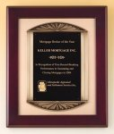Rosewood Piano Finish Plaque Cast Frame Achievement Award Trophies
