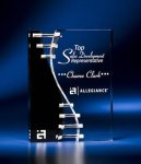 Wave Crevice Acrylic Award with Black Accent Achievement Award Trophies