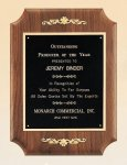 American Walnut Plaque with Decorative Accents Achievement Award Trophies