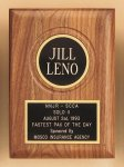 American Walnut Plaque with Routed Disk Area Achievement Award Trophies