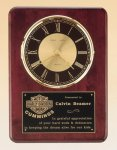 Rosewood Piano Finish Vertical Wall Clock Achievement Award Trophies
