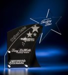 Clear Star with Black Accent Acrylic Award Achievement Award Trophies
