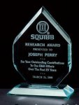 Thick Polished Diamond Acrylic Award Achievement Award Trophies