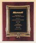 Rosewood Piano Finish Plaque Achievement Award Trophies