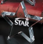 Tapered Star Achievement Award Trophies