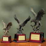Eagle on Piano Finish Base Achievement Award Trophies