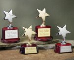 Star with Piano Finish Base Series Achievement Award Trophies