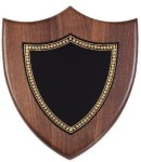 Walnut Corporate Shield Plaque Achievement Awards