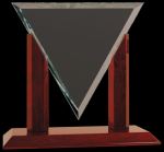 Diamond Triangle Clear Glass Award Achievement Awards