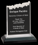 Silver Frosted Impress Acrylic Achievement Awards