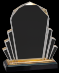 Gold Faceted Impress Acrylic Achievement Awards