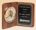 American Walnut Book Clock Boss Gift Awards