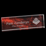 Red Marble Acrylic Name Bar Boss Gift Awards