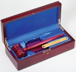 Gavel In Wood Box Rosewood Boss Gift Awards