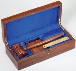 Gavel In Wood Box Walnut Boss Gift Awards