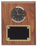 Genuine Walnut Clock Plaque With Black Face Clock Fit Up Black Plate Boss Gift Awards
