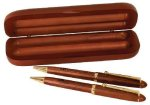 Rosewood Pen, Pencil & Case Set Boss Gift Awards