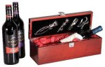 Rosewood Piano Finish Single Wine Box With Tools Boss Gift Awards
