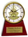 Executive Clock on a Rosewood Piano Finish Base Boss Gift Awards