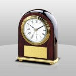 Rosewood Desk Clock Boss Gift Awards