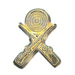 Crossed Rifle Chenille Pin Chenille Lapel Pins