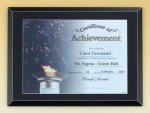 Black Glass Certificate Plaque Employee Awards