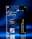 Circle Cutout Clear and Black Acrylic Award Employee Awards