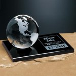 Continental Globe on Glass Base Employee Awards