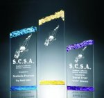 Chipped Top Pillar Acrylic Award Employee Awards