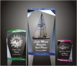 Faceted Rectangle Acrylic Award Employee Awards