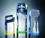 Hexagon Top Tower Acrylic Award Employee Awards