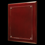 Rosewood Piano Finish Floating Plaque with Magnetic Standoffs Employee Awards