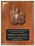 Walnut Piano Finish Plaque Employee Awards