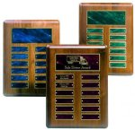 Perpetual Plaque with Blue Plates Employee Awards