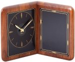 Walnut Desk Clock Plaque Employee Awards
