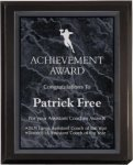 Matte Black Plaque Award Employee Awards