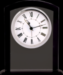Black/Clear Square Arch Glass Clock Employee Awards
