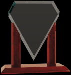 Royal Marquis Diamond Clear Glass Award Employee Awards
