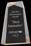 Gold Acrylic Facet Wedge Employee Awards
