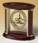 Skeleton Clock with Brass and Rosewood Piano Finish Executive Gift Awards