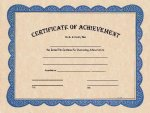 Certificate of Achievement Award Fill in the Blank Certificates