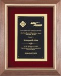 Walnut Frame Corporate Plaque Frame Plaques
