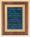 American Walnut Plaque with Gold Embossed Frame Golf Awards