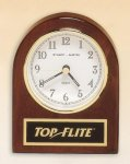 Rosewood Piano Finish Desk Clock Golf Awards