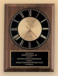 American Walnut Vertical Wall Clock Golf Awards