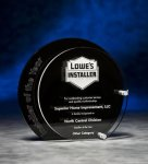 Circle Black and Clear Depth Acrylic Award Golf Awards