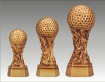 Sports Equipment Theme Golf Ball on Pedestal Golf Awards