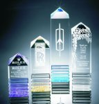 Fluted Pillar Acrylic Award Golf Awards