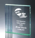 Fluted Side Acrylic Award Golf Awards